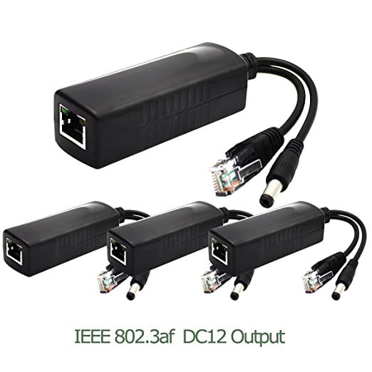 3 opinioni per ANVISION 4-Pack Active PoE Splitter Adattatore IEEE 802.3af Conforme 10 /