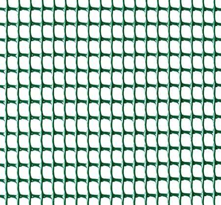Malla plastica cuadrada verde 1m de altura - Hueco 10mm x 10mm (5 m)