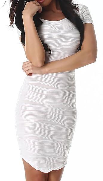 Vestido de mujer Mini vestido espalda abierta Fiesta Stretch vestido manga corta Noche de Cóctel Club: Amazon.es: Ropa y accesorios
