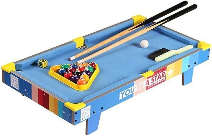 Mesa De Billar Household Kids Color Version - Juego De Mesa Mini Pool Games con 2 Tacos, 1 Triángulo, 1 Cepillo Y 1 Juego De Bolas, Gran Regalo para Niños Y Niñas: Amazon.es: Hogar