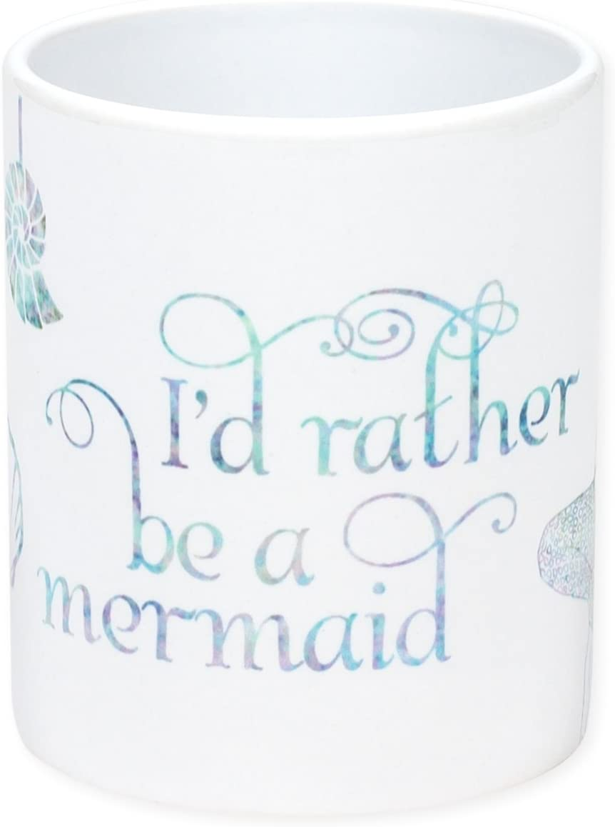 Dicksons I'd Rather Be a Mermaid White 11 Ounce Ceramic Coffee Mug