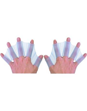 """paaiter Engranaje de silicona nadar aletas mano aletas palmeadas formación guante tamaño L 7.1 """""""