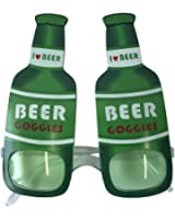 OLABB ST. Patrick's Day Shamrock Glitter Eye Glasses Colver Party Accessory