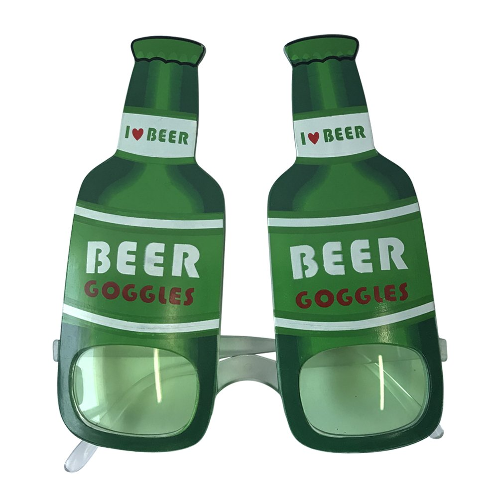 OLABB St. Patrick's Day Eye Glasses I Love Beer Costume Goggles Party Accessory 2 Pack