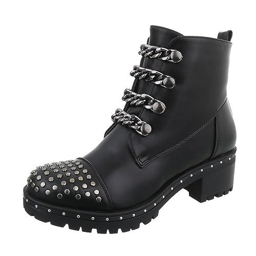 Zapatos Para Mujer Botas Tacón Ancho Botines Camperos Negro Tamaño 41: Amazon.es: Zapatos y complementos