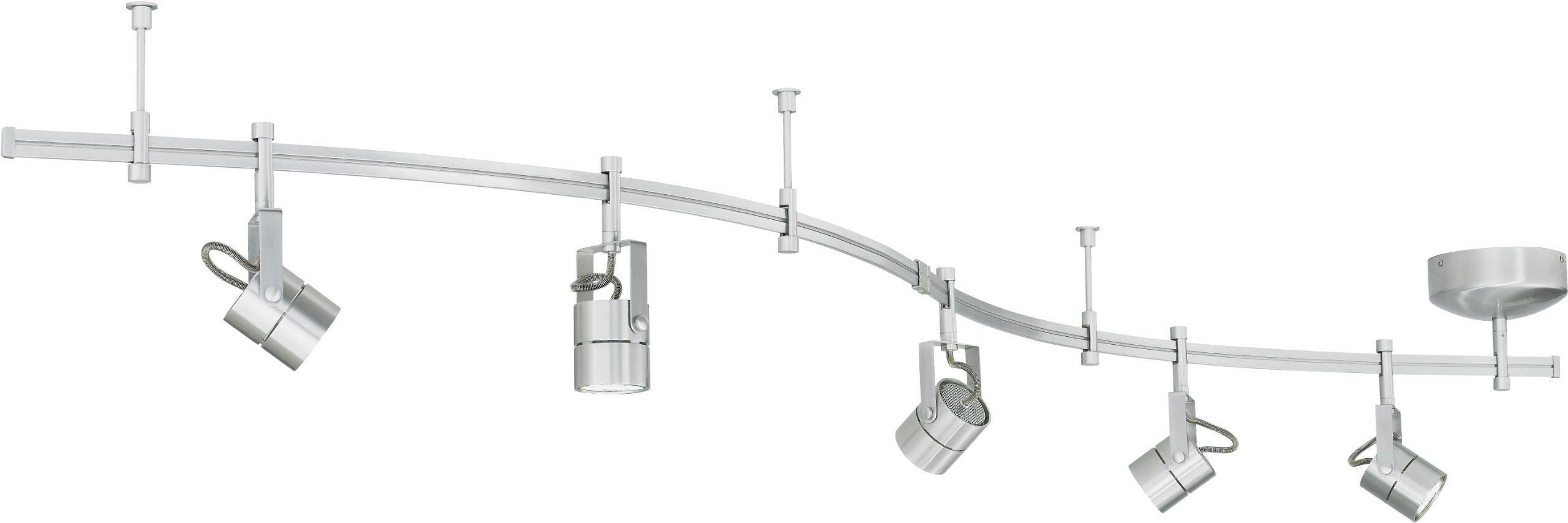 Tech Lighting 800RAL5FCN Focus Track Lighting Kits, 100 watt Flexible Track Light System, 8.5'' x 8.5'' x 8.5'', Matte Nickel