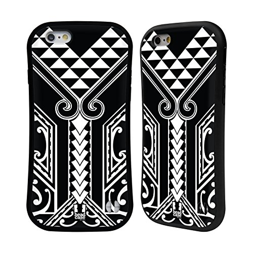 Head Case Designs Tribal Triangle Samoan Tattoo Hybrid Case for iPhone 6 / iPhone 6s (Iphone Tattoo 6 Samoan Case)
