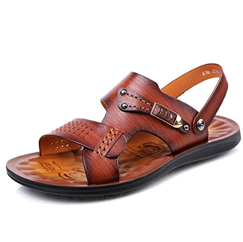 4d94f994a1c Sandal Summer Men s Outdoor Leisure Brown Comfortable Breathable Sandals   Amazon.co.uk  Shoes   Bags
