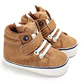 Isbasic Baby Boys Girls High-tops Sneakers Toddler Soft Sole First Walkers Shoes (12-18 Months, Brown1) | amazon.com
