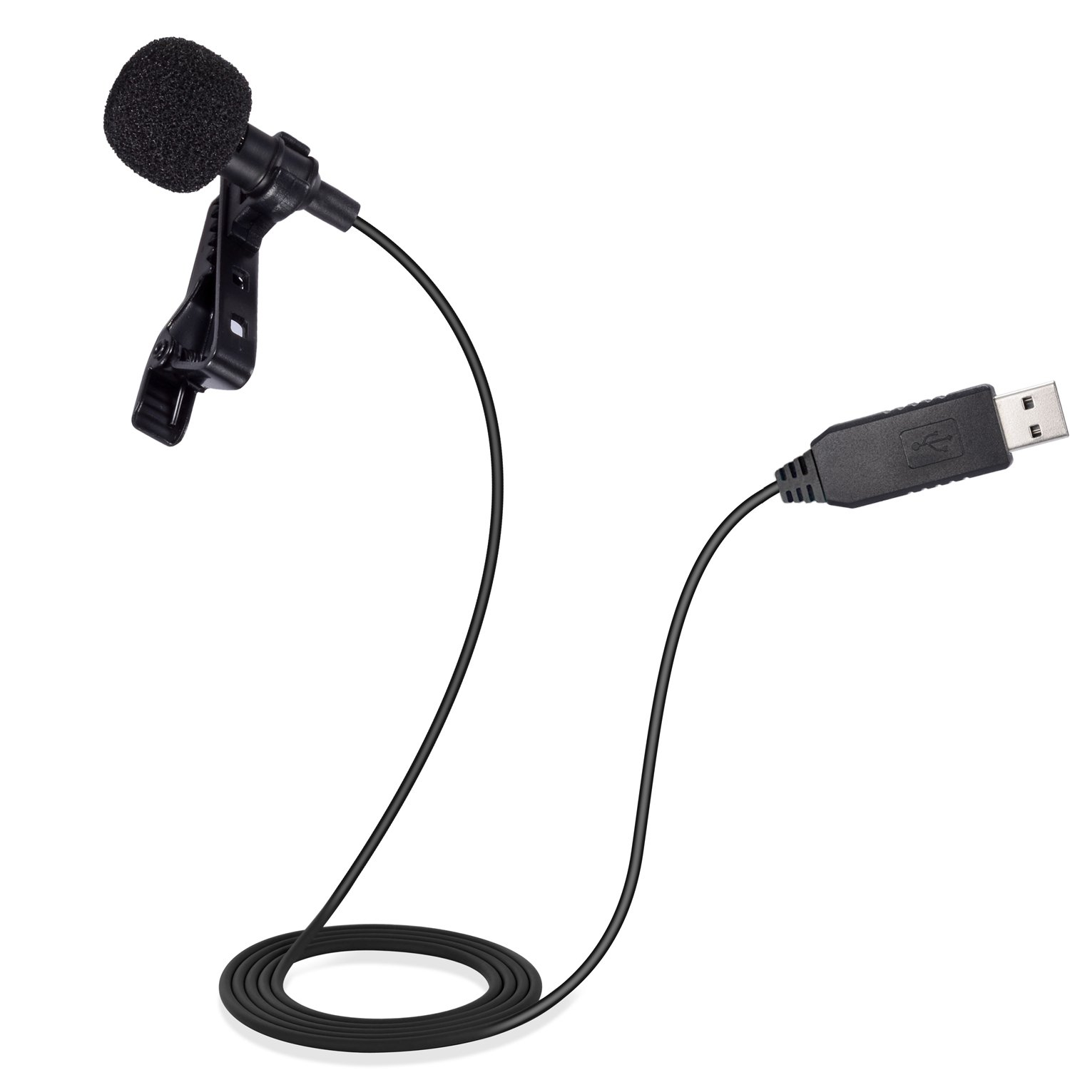 Mic for Computer, PChero USB Lavalier Clip-on Omnidirectional Condenser Microphone for Laptop PC Macbook, Perfect for Interviews, Skype, Audio Video Youtube Recording, QQ, MSN, Skypee, Podcast by PChero (Image #8)