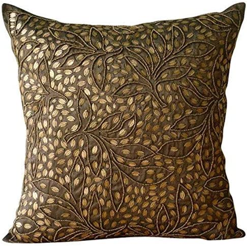 Brand New Leaf Design Cushion Covers only 16x16 or filled