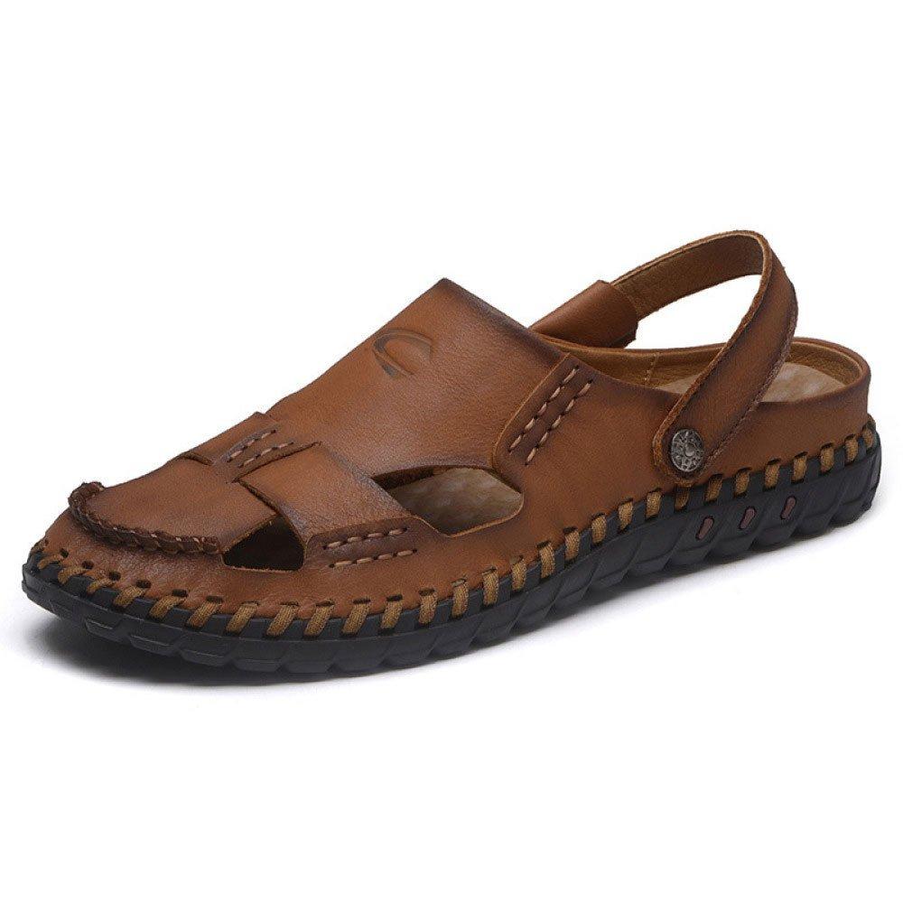 Sandalias Hechas A Mano Zapatillas De Playa Baotou Transpirables Sandalias Y Pantuflas Antideslizantes 42 EU|Brown