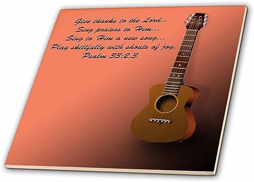 Classic de guitarra y versículo de la Biblia Sing A el Señor una ...