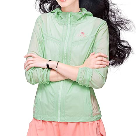 0673bc49d2 Camel UV Protection Shirts for Women UPF 40+ Lightweight Quick Dry Thin  Hoodie Outdoor Jacket