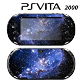 Skin Decal Cover Sticker for Sony PlayStation PS Vita Slim (PCH-2000) - Blue Galaxy