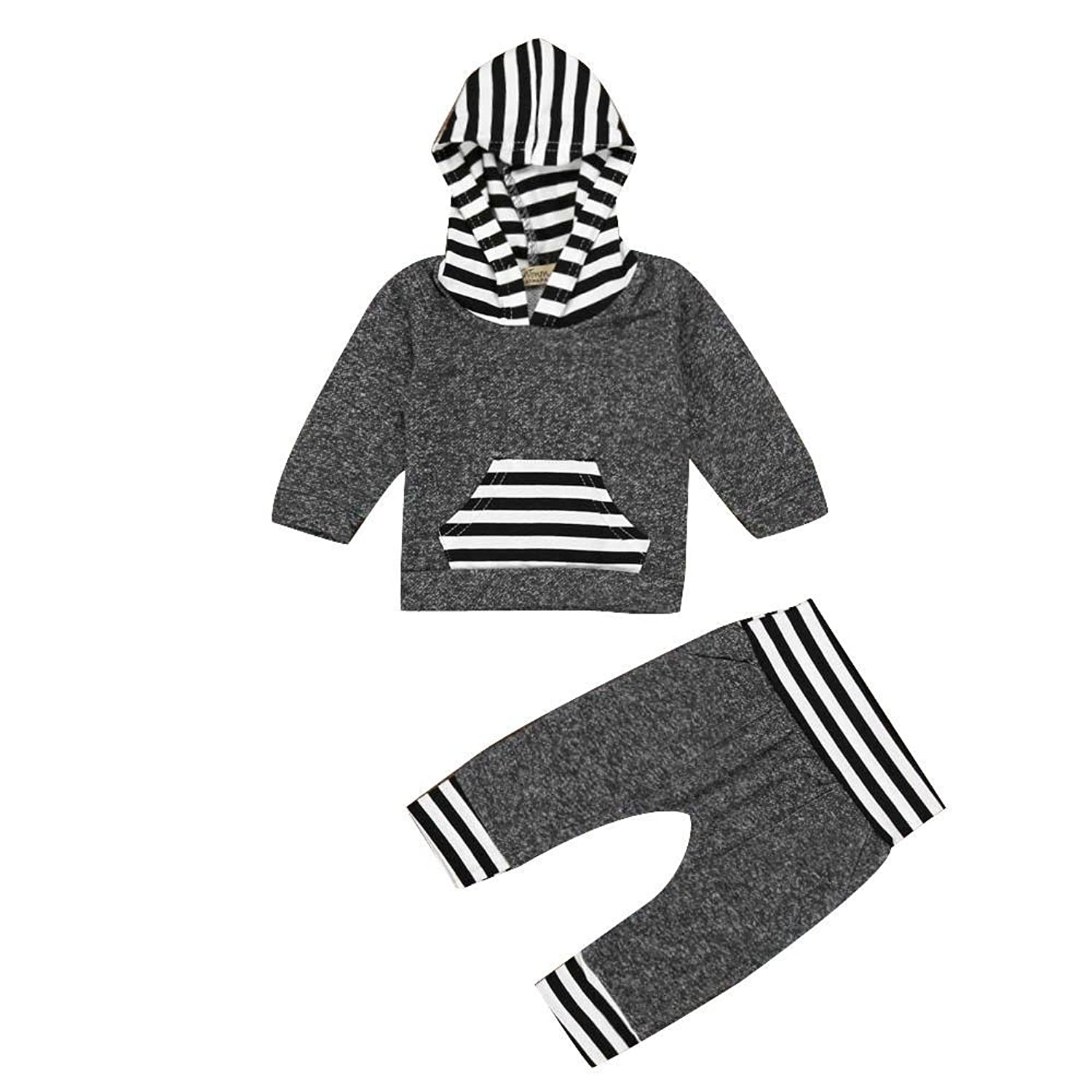 for 636 months babyclode newborn infant baby boy girl clothes set striped