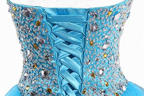 Aurora Mariée Organza Femmes 2018 Robes De Cocktail De Soirée De Bal De Retour À La Maison Courte Bleu Ciel Ab180