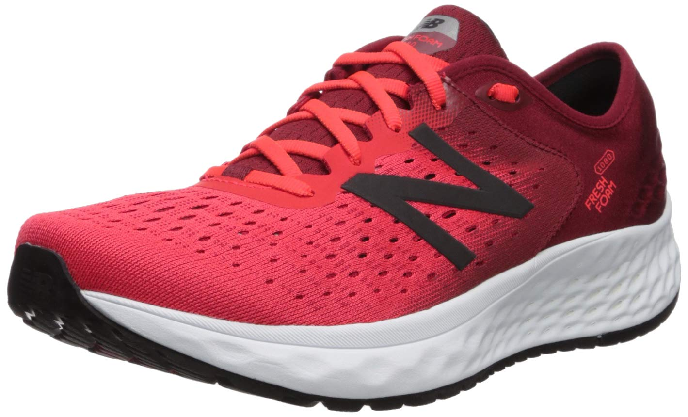 New Balance Men's 1080v9 Fresh Foam Running Shoe, Energy red/Nubuck Scarlet/Black, 7 W US by New Balance (Image #1)