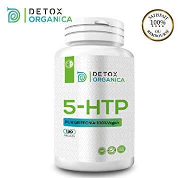 Detox Organica 5 HTP 200 mg-180 gélules Griffonia 100% naturel-cure de