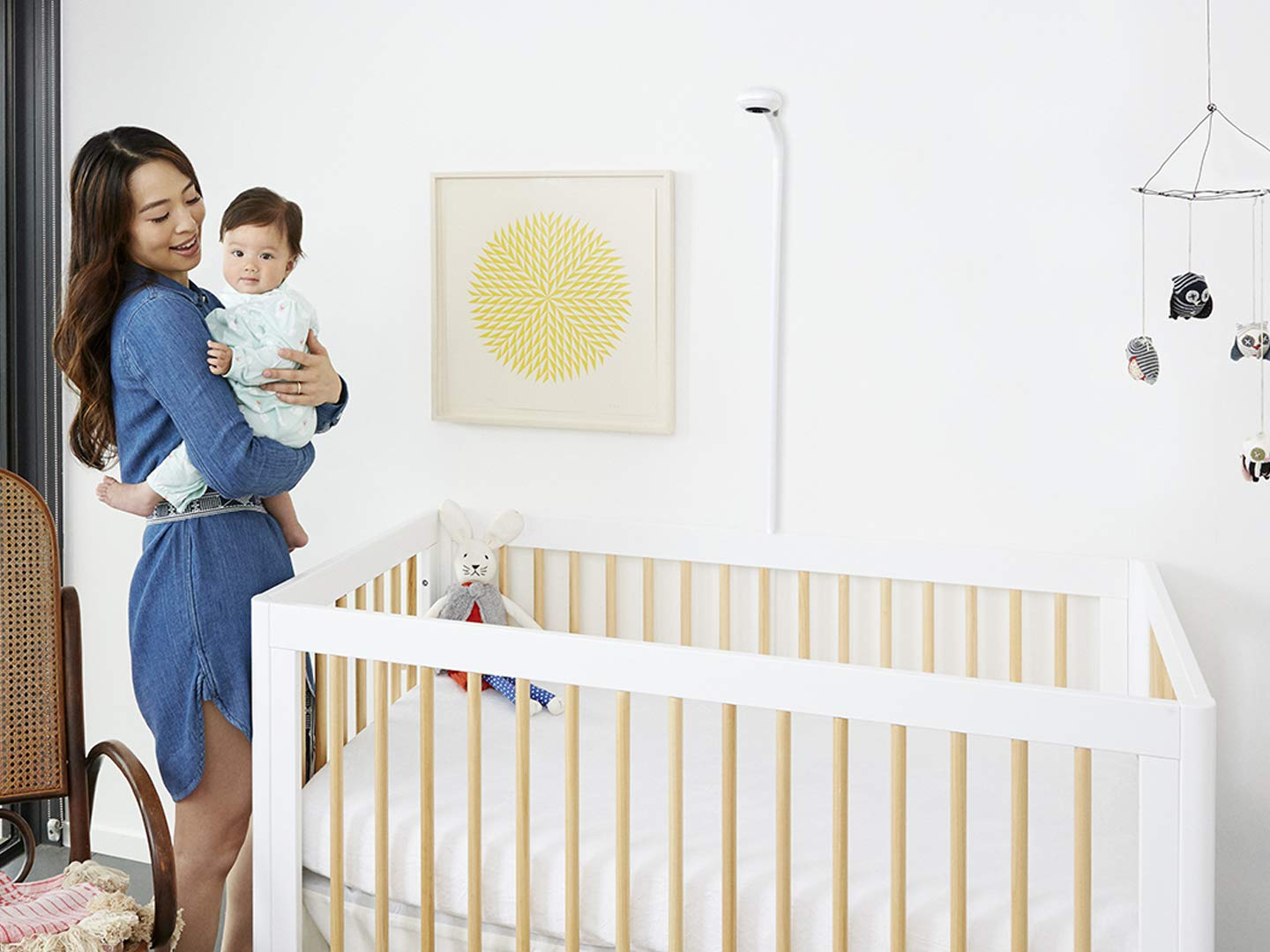 Night Vision Nanit Smart Baby Monitor and Wall Support Sleep Tracking Temperature /& Humidity Sensors and Nightlight Camera with HD Video /& Audio