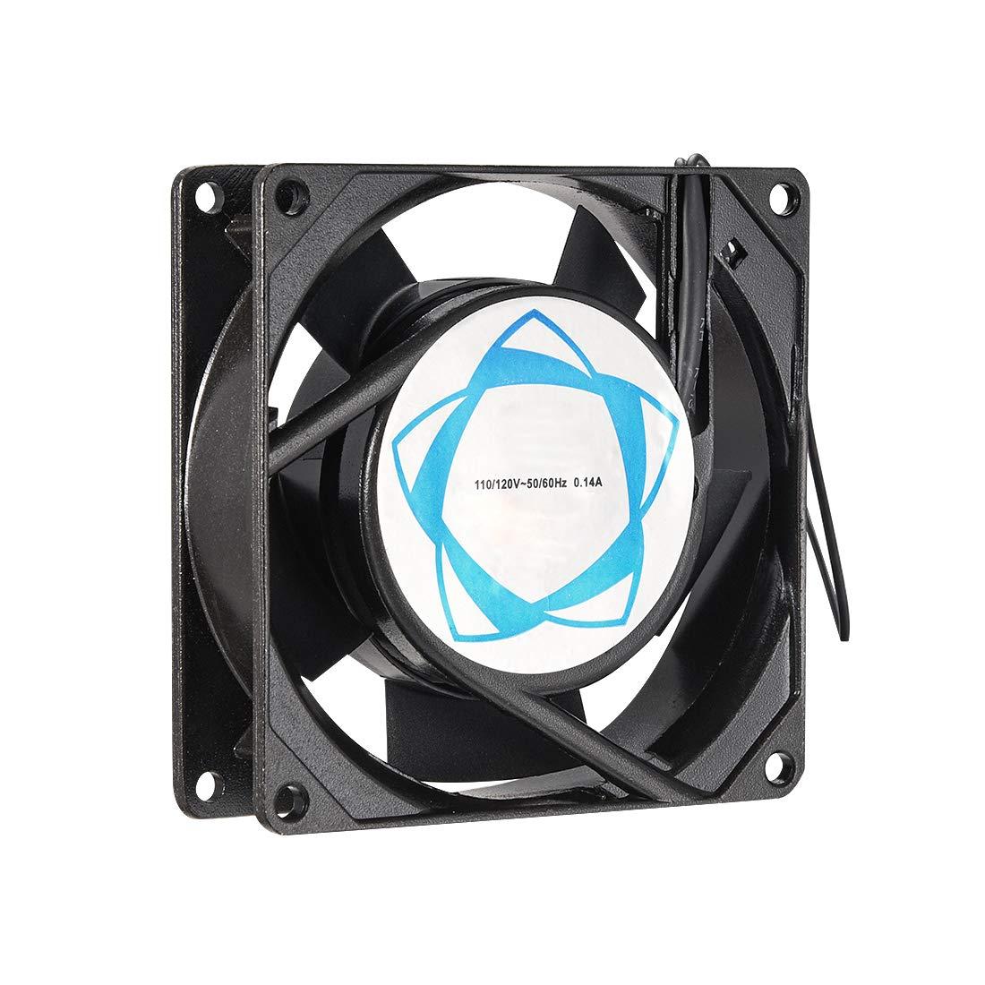 uxcell Cooling Fan 92mm x 92mm x 25mm SF9225AT AC 110V/120V 0.14A Dual Ball Bearings
