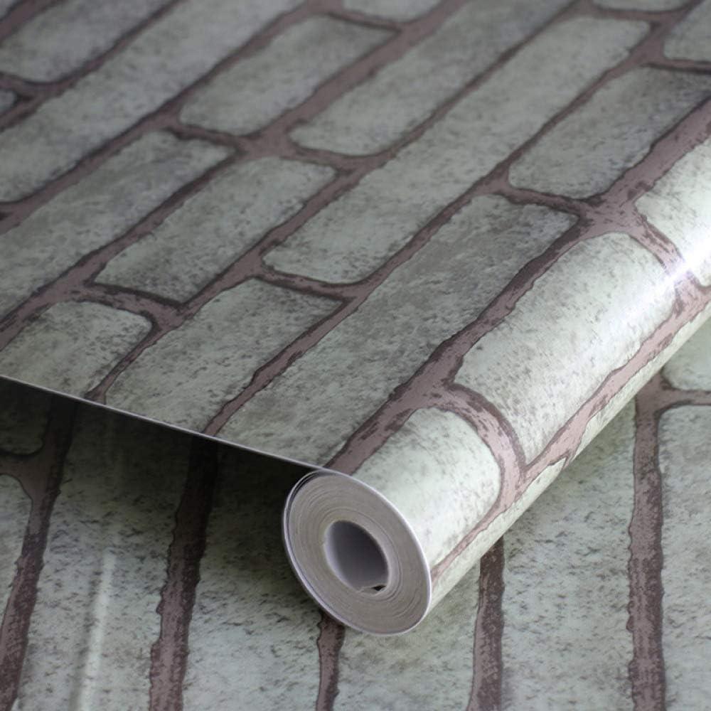 Pegatinas de Pared Autoadhesivas de PVC Tienda de Ladrillos Dormitorio Dormitorio Dormitorio decoración Papel Tapiz- 45CMX10M: Amazon.es: Hogar