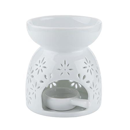 Mucihom ceramic glazed oil burner essential oil white tea light mucihom ceramic glazed oil burner essential oil white tea light holder aroma lamp diffuser romantic mightylinksfo