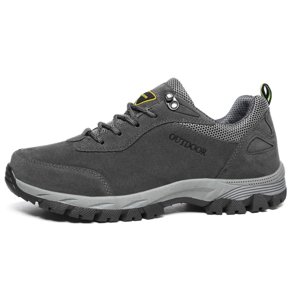 Jincosua Mens Casual Rutschfeste weiche Sohle atmungsaktiv Outdoor Cilmbing Walking Winter Trainer (Farbe   Grau, Größe   EU 46)