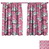 Best Greenland Home Home Fashion Pinks - Anniutwo Pink White Decor Curtains Hand Drawing Style Review