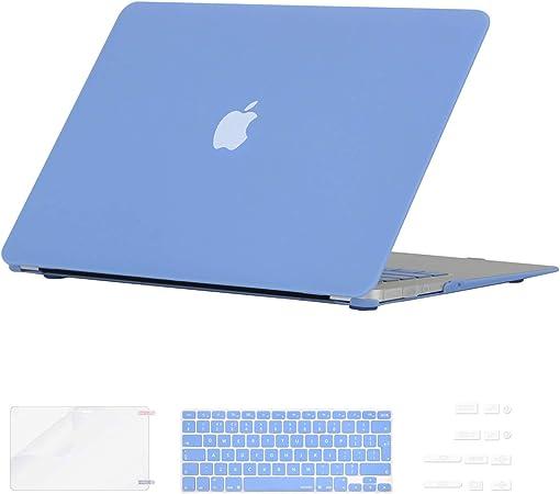 Enchufe del Polvo para Apple Macbook Air 13 Pulgadas Cubierta del Teclado Protector de Pantalla i-Buy Mate Caso de Shell Duro - Cristal Claro Modelo A1369 A1466