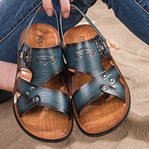 estate Il nuovo Uomini sandali Tempo libero moda sandali traspirante Uomini Spiaggia scarpa Uomini sandali ,blu,US=7,UK=6.5,EU=40,CN=40