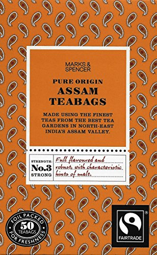 Marks and Spencer British Tea, Pure Origin Assam, 50 Count Teabags - Model Id Mspa3321 - USA Stock