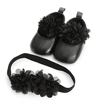 Mother & Kids Baby Shoes White 3 Flower Lace Headband Baby Newborn Toddler Girl Crib Bow Shoes Pram First Walker Anti-slip Sneakers Soft Sole