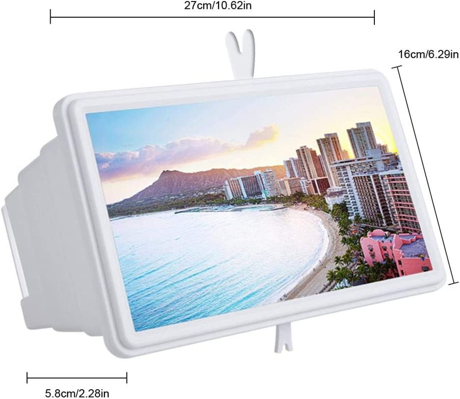 Foldable Stand Holder Anti-Blue Radiation Magnifying Glass Suitble for All Smartphone Enlarge The Screen Screen magnifier 14 3D HD Monitor for Phone Portable Home Cinema