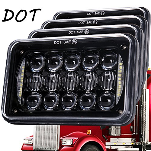 5D-Lens-60W-Newest-4x6-Inch-LED-Headlights-with-DRL-for-H4651-H4652-H4656-H4666-H6545-Freightliner-Kenworth-Peterbilt-International-Volvo-Sterling-Western-Star-Mack