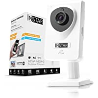INSTAR IN-6001HD HD IP Kamera / Überwachungskamera / ipcam mit LAN / Wlan / Wifi zur Überwachung oder als Baby Kamera (4 IR LED Infrarot Nachtsicht, Weitwinkel, SD Karte, WDR, Bewegungserkennung, Aufnahme) weiss