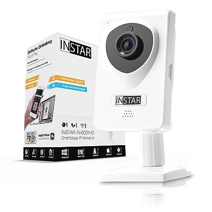 INSTAR IN-6001HD - Cámara IP HD WiFi (grabación en tarjeta SD, detección