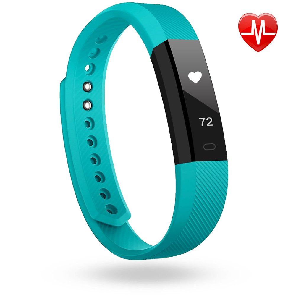 Lintelek Fitness Tracker, Heart Rate Smart Wristband, Sleep Monitor, Steps/Calorie and Distance Counter Pedometer for Android or IOS Phone