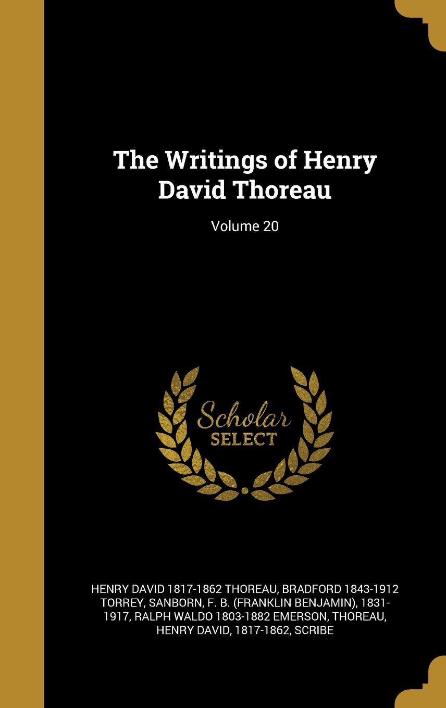 The Writings of Henry David Thoreau; Volume 20 PDF