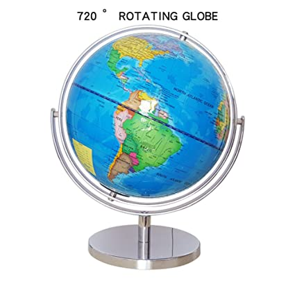 Amazon world globe map with stand blue ocean desktop table desk world globe map with stand blue ocean desktop table desk decoration plastic toys for kids geography gumiabroncs Image collections