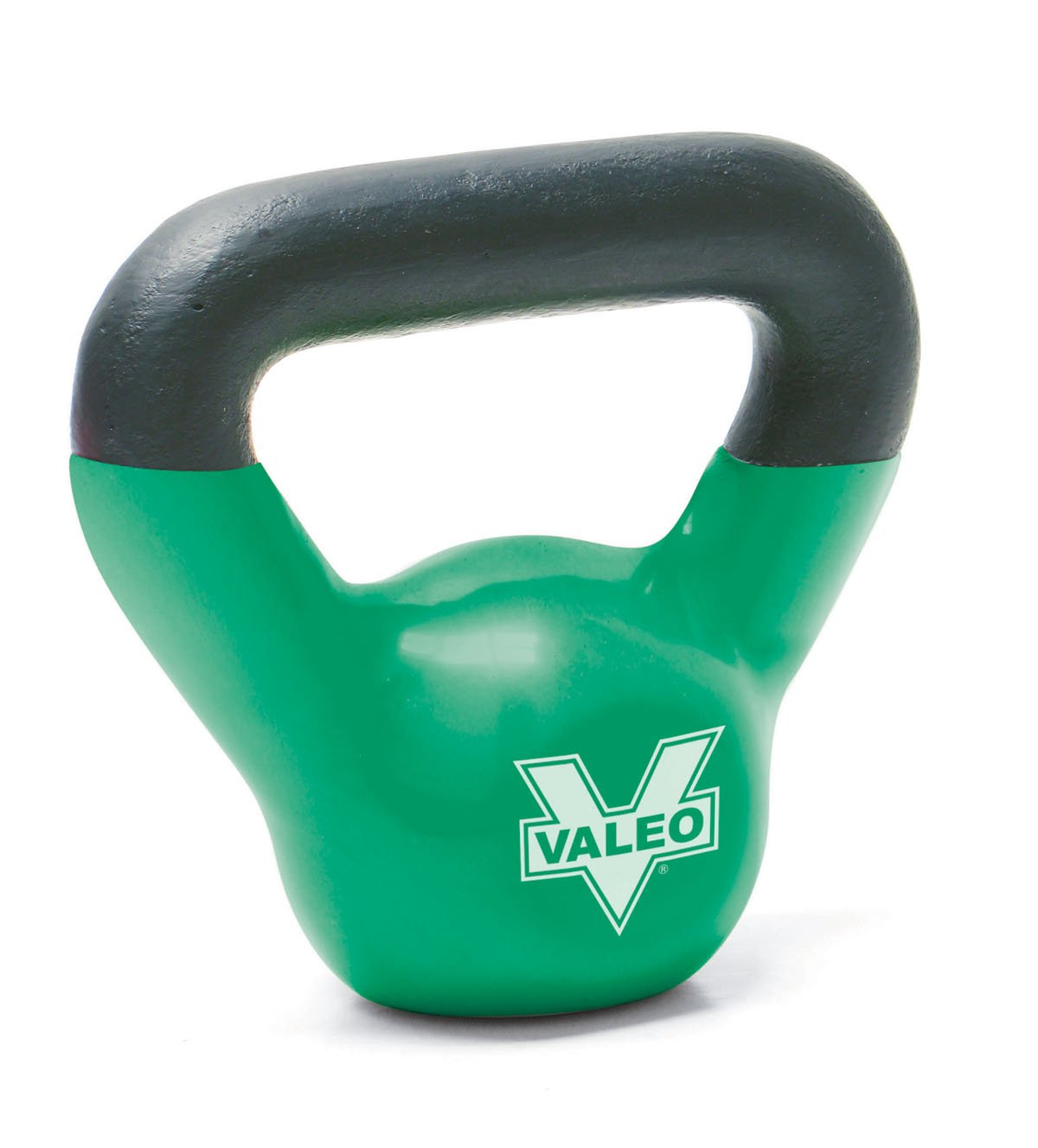 Valeo Green 5-Pound Kettle Bell Weight With Cast Iron Handle For Squats, Pulls and Overhead Throws To Build Strength And Endurance