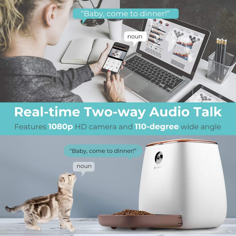 Amazon.com : Houzetek Automatic Pet Feeder Dog Dispenser, Cat Food Dispenser with Voice Recording, Features Distribution Alarms, Portion Control and Timer ...