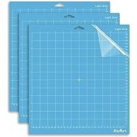 ReArt Light Grip Cutting Mat for Cricut Explore One/Air/Air 2/Maker 12x12 inch 3 Pack