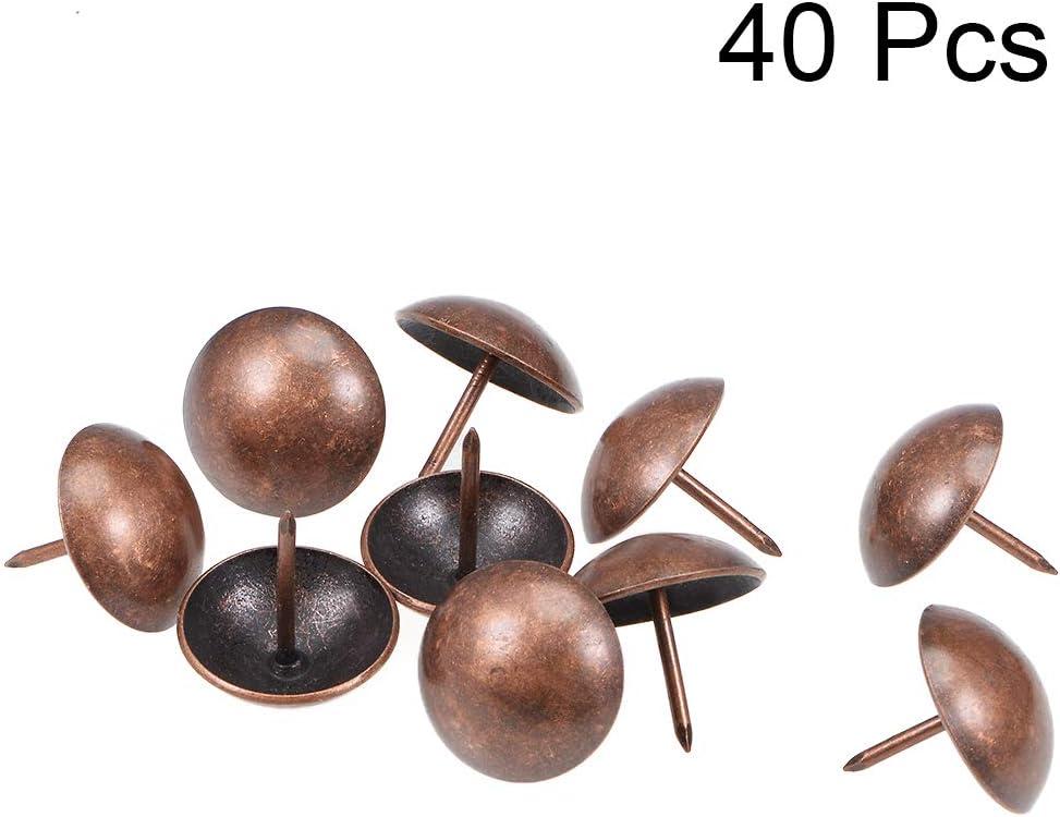 Sourcingmap color cobre dise/ño antiguo 9 mm de di/ámetro de la cabeza redonda Chinchetas para tapicer/ía