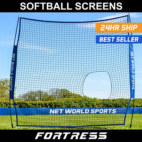 Fortress Portable Softball Screen – Practice Your Hitting Or Pitching With This Pop-Up Practice Protector Screen by Fortress