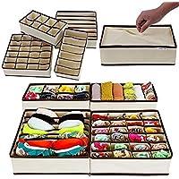 Styleys Drawer Organizer Storage Box Drawer Dividers Innerwear Organizer Wardrobe Organizer for Innerwear, Clothing, Shoes, Underwear, Bra, Socks, Tie, etc (Set of 4)