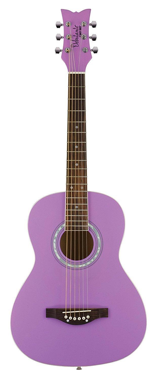 Daisy Rock 6 String Acoustic Guitar, Popsicle Purple (DR7401-A-U)