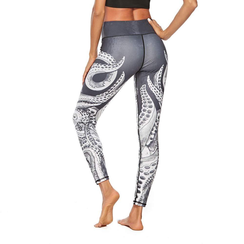 Pantalones Yoga Deportivas Mujer Impresión Nacional del Viento ...
