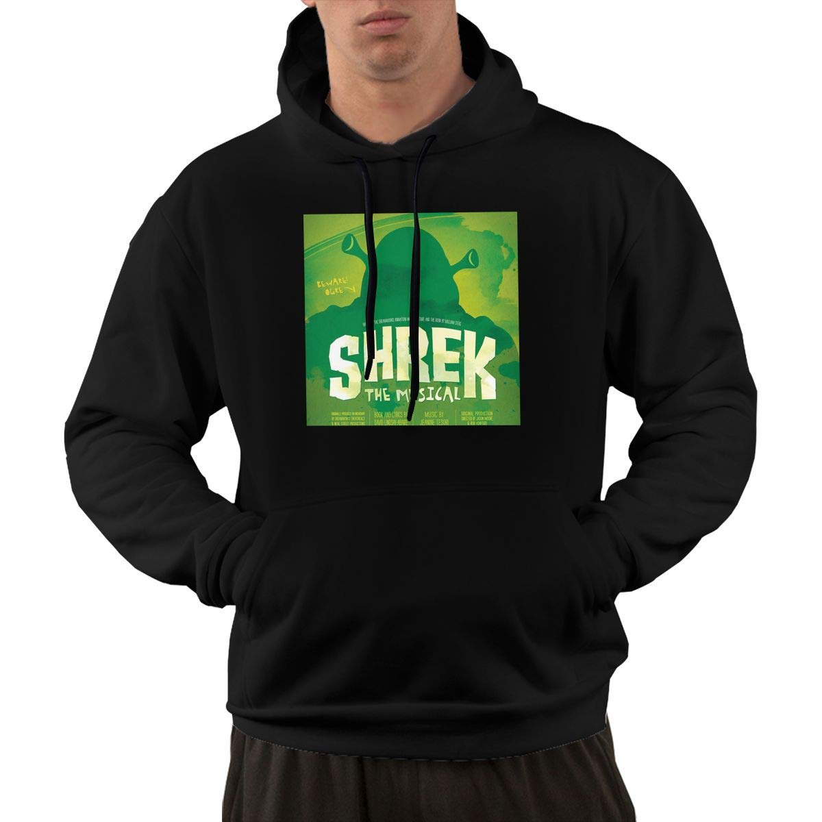 Eowlte Shrek The Musical Men Long Sleeve Casual Hoodie Pocket Sweatshirt Black 3XL