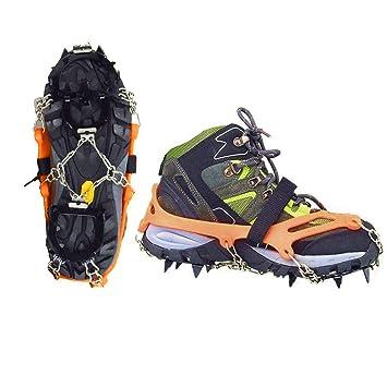 Senderismo Esquí Tipo Zapatos Nieve De Cinturón Correa Vdealen Para Gran Crampones Altitud B0fxvv